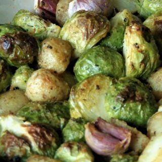 Roasted Baby Potatoes with Brussel Sprouts