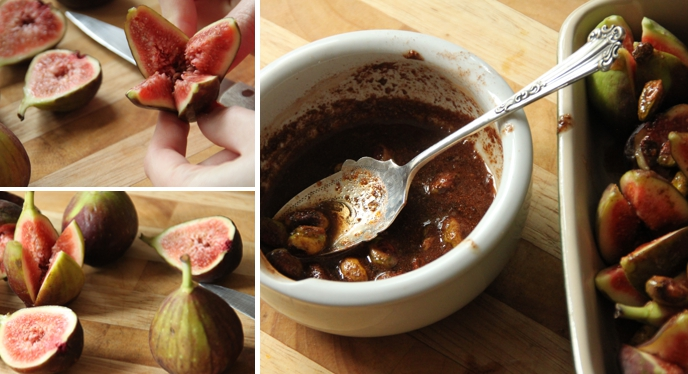 Maple Glazed Figs with Roasted Pistachios