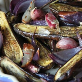 Roasted Baby Eggplants and Mediterranean Herbs