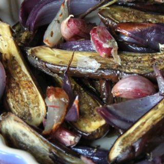 Roasted Baby Eggplants and Mediterranean Herbs
