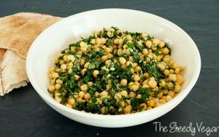 Zesty Chickpea and Kale Salad with Vegan Parmesan