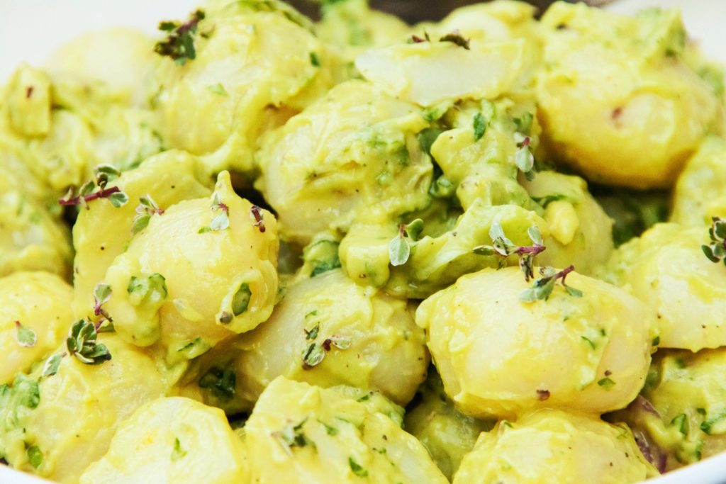 Creamy Potato Salad with Avocado