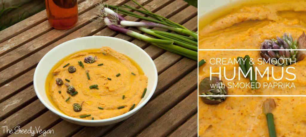 creamy hummus with smoked paprika