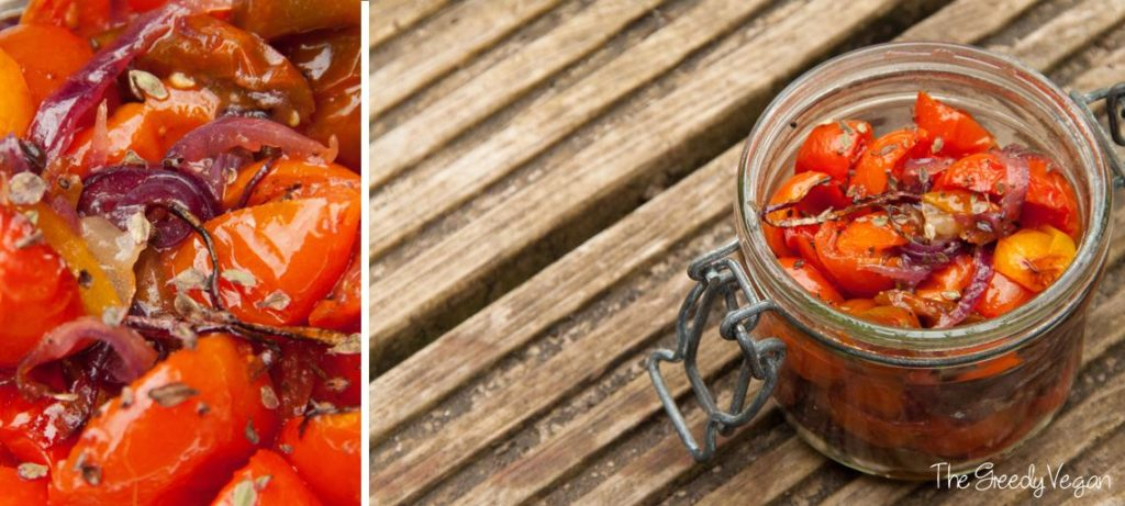 Oven roasted heirloom tomatoes 001