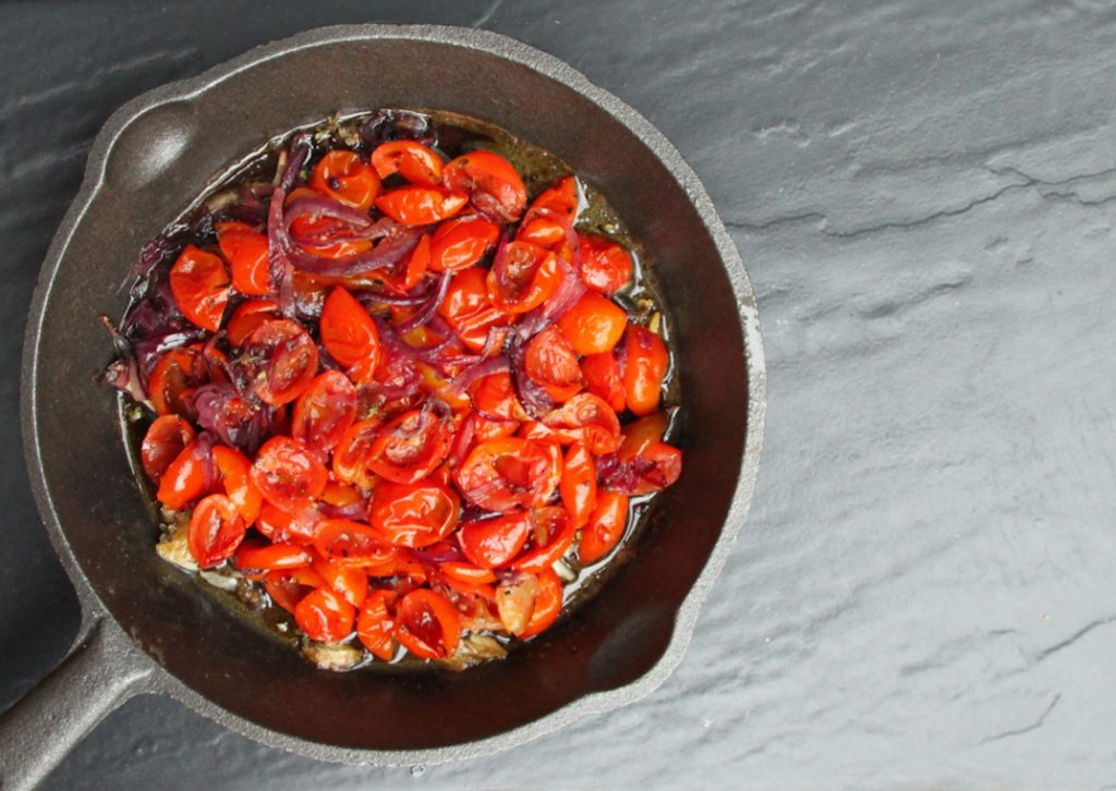 Tomato Tarte Tatin • The Greedy Vegan