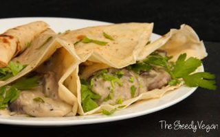 Crepes with Creamy Mushroom Filling