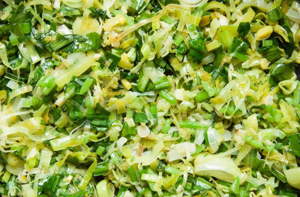 Cheesy Wild Garlic Quiche