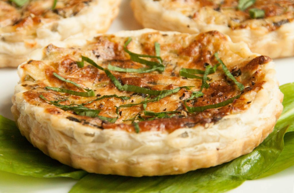 Cheesy Wild Garlic Quiche