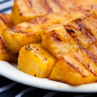 Grilled Pineapple with Sweet and Hot Sriracha Marinade