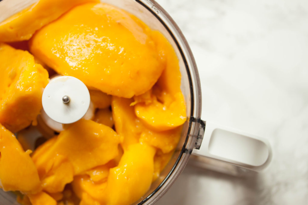 Mango Sorbet Without Added Sugar