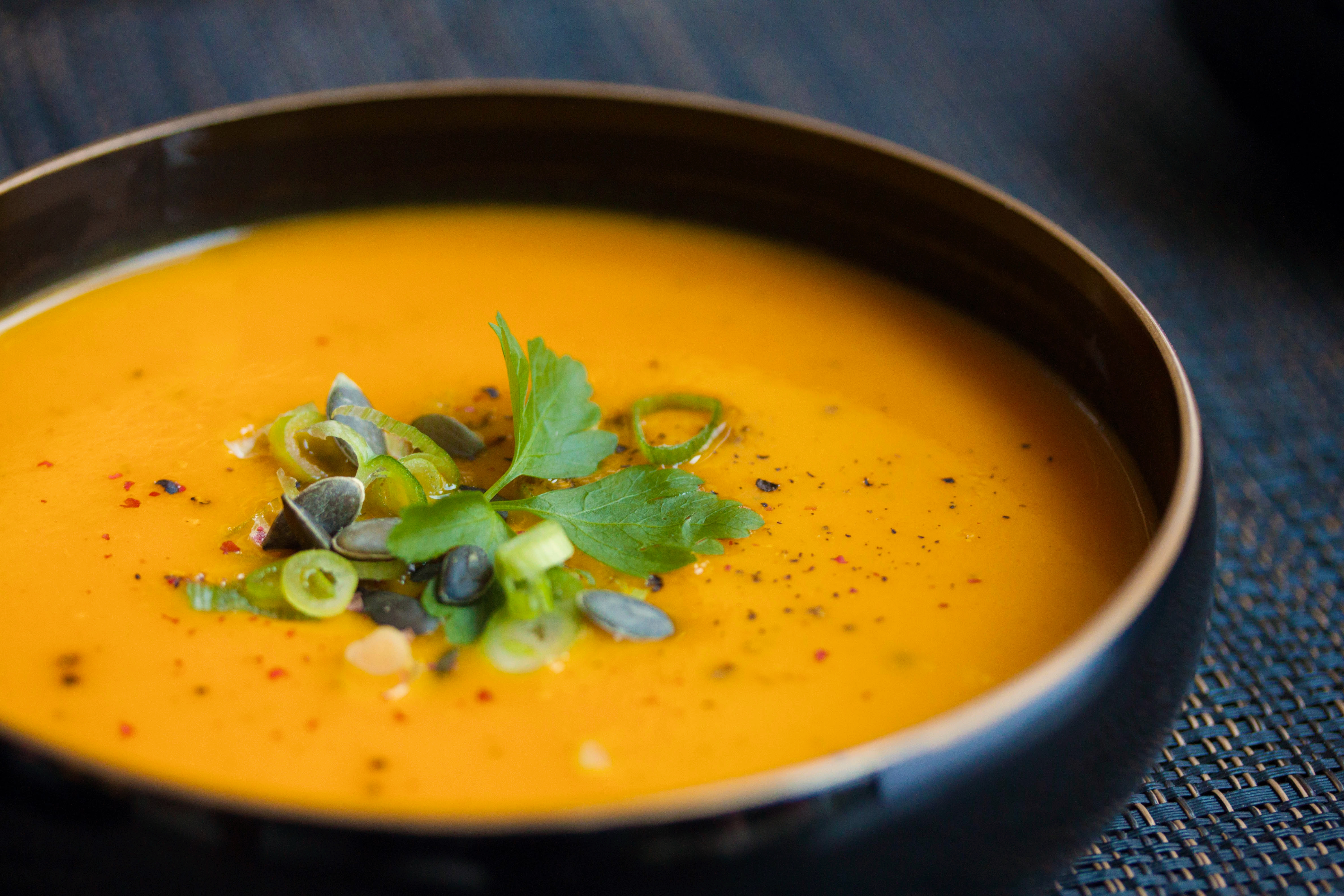 Carrot Soup with Ginger and Turmeric - a great cold ...