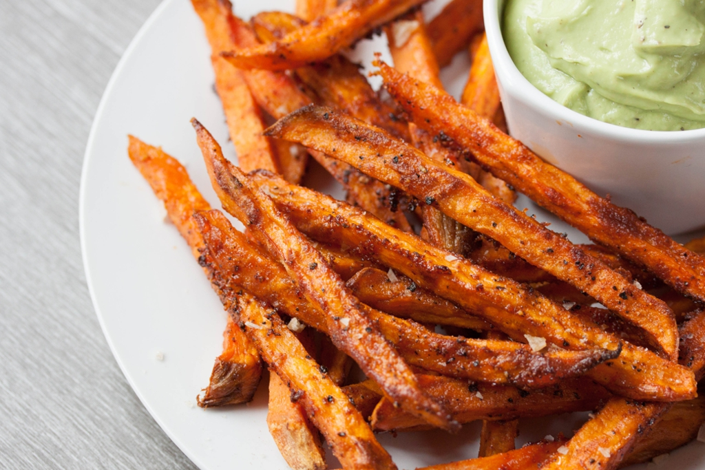 deep fried sweet potato french fries