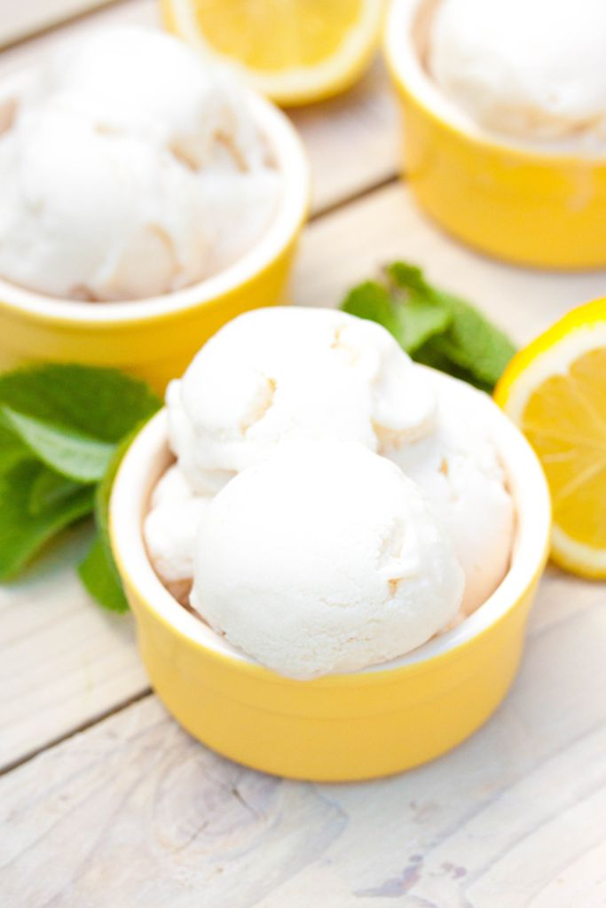 Vegan Homemade Lemon Ice Cream