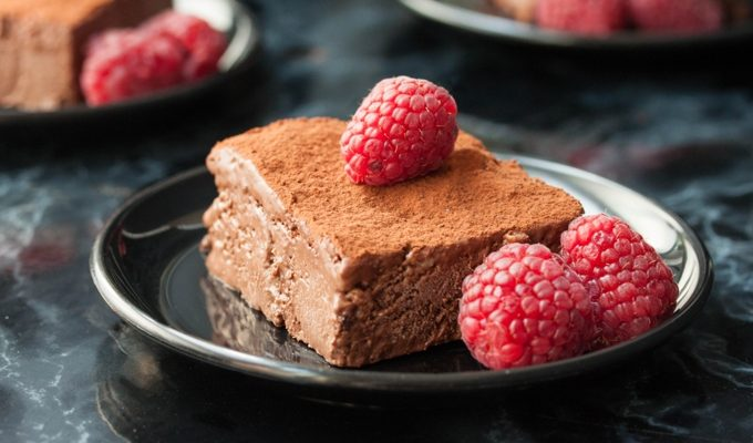 Vegan Brownie Bites in Chocolate Ice Cream