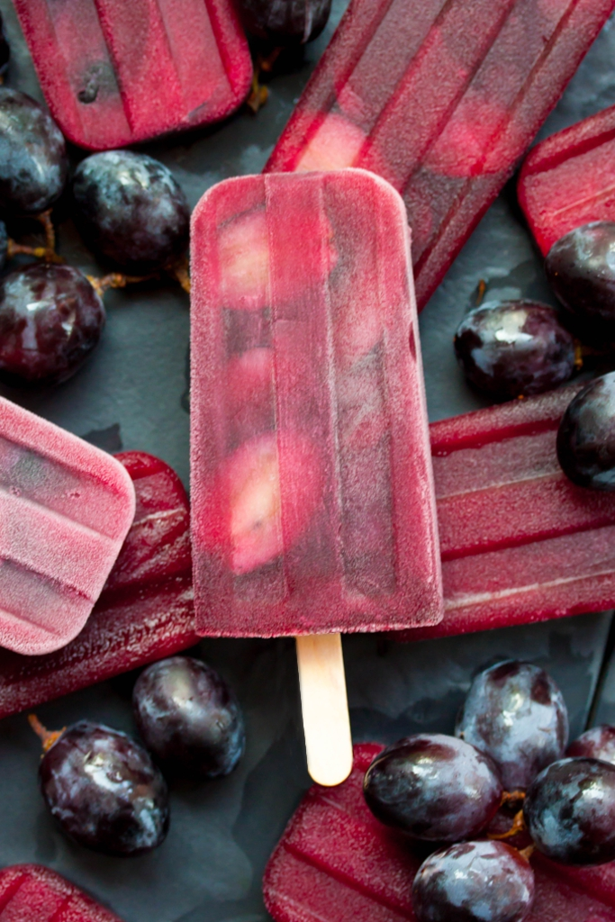 Red Grape Ice Pops