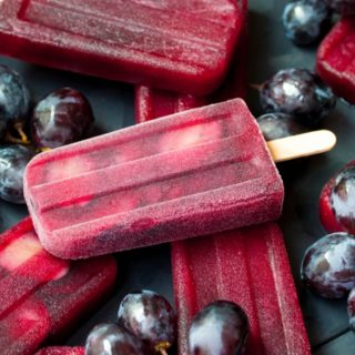 Ruby Red Grape Ice Pops With Whole Fruits
