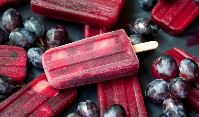 Ruby Red Grape Ice Pops