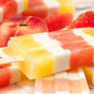 Peach and Grapefruit Ice Pops