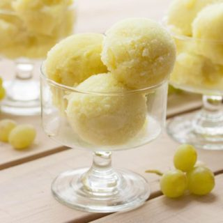 Green Grape Sorbet Without Added Sugars