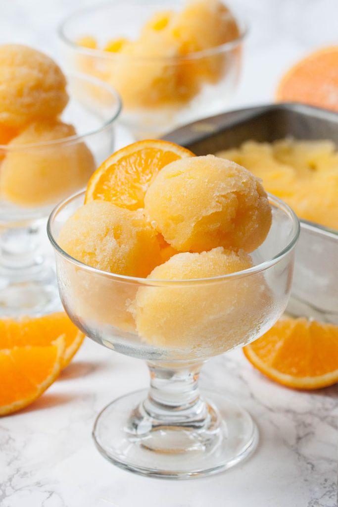 fresh orange sorbet