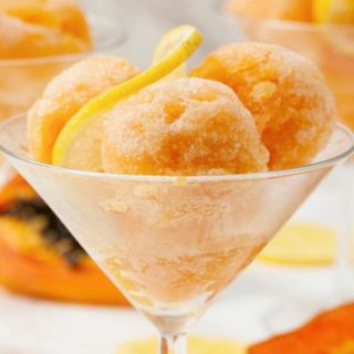 Papaya and Lemon Sorbet